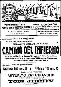 Anuncio Cine Monumental 1933