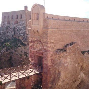 Baluarte desde la Ctra. de la Alcazaba