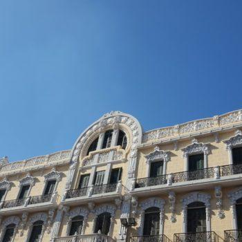 Decoración superior fachada Avda, Juan Carlos I