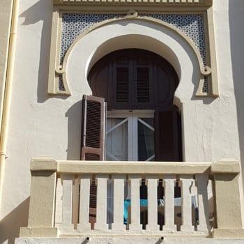 Detalle fachada.Balcón