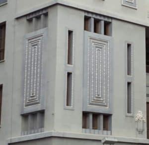 Detalles de las fachadas