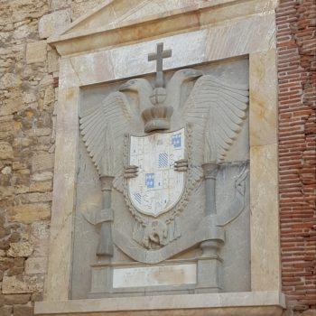 Escudo Imperial plaza de la Avanzadilla