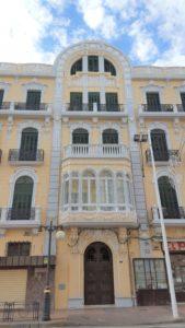 Parte central de la fachada de Avda. Juan Carlos I