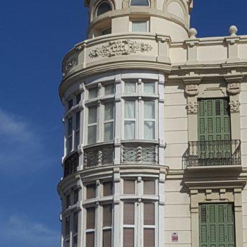 Perspectiva de la torre desde Plaza de España