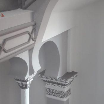 Arcos en el hall. Fotografía de Chelo Ortiz