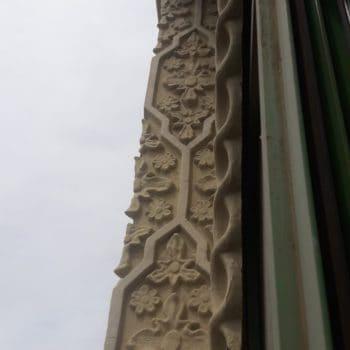 Decoración en sebka de la fachada. Fotografía de Cherlo Ortriz