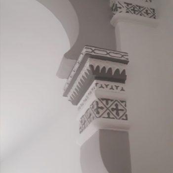 Detalle de los arcos del hall. Fotografía de Chelo Ortiz