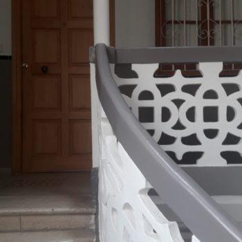 Detalle decoración escalera. Fotografía Chelo Ortiz