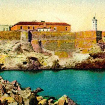 Panorámica antigua de la ciudadela con la Casa Ferrer a la izquierda