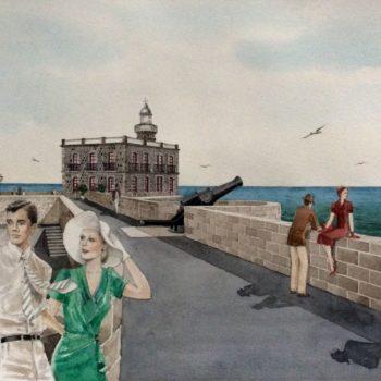 Tarjeta Faro Obra de Enrique Ordoñez
