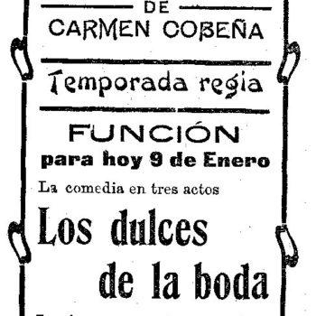 Teatro Alcántara Función 1911