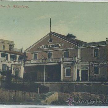 Teatro Alcántara. Postal antigua