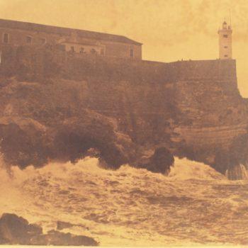 Torre del Vigia de Mar durante temporal de Levante
