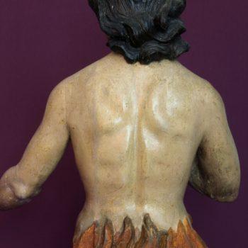 Ánima del purgatorio. Detalle espalda. Fotografía de Miguel Gómez Bernardi.