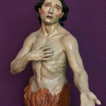 Ánima del purgatorio. Escultura femenina. Fotografía de Miguel Gómez Bernardi.