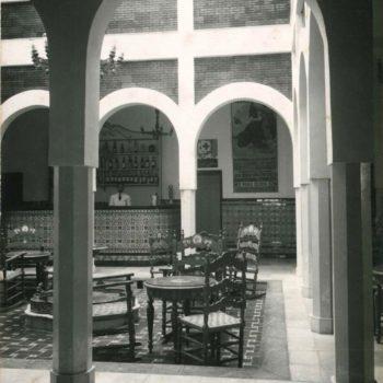 Antiguo Hotel Rusadir. Patio . Archivo General de Melilla