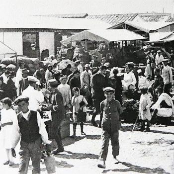 Mercado descubierto del Mantelete. Melilla 1919