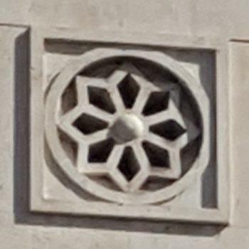 Motivo decorativo en la fachada