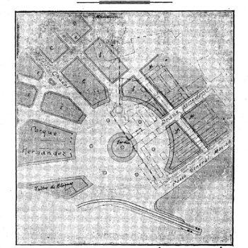 Plano Plaza de España. El Telegrama del Rif de 24 de septiembre de 1910