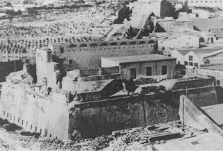 Vista desde el este del Fuerte de San Miguel.