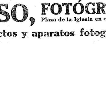 Anuncio Fotografía del Sr. Peso 1911