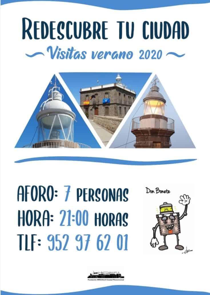 Cartel visitas al Faro