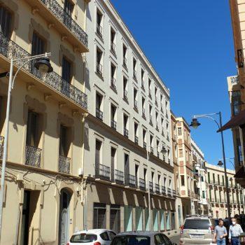 Casa de Baños. Fachada a López Moreno