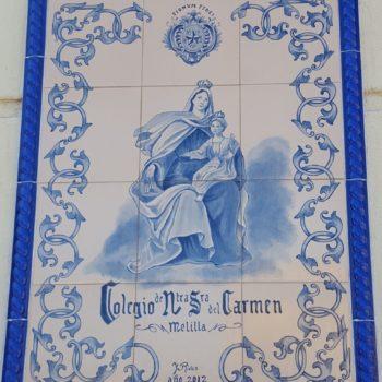 Colegio La Salle El Carmen. Mosaico de la Virgen del Carmen