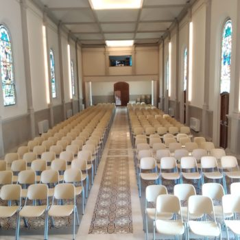 Colegio La Salle El Carmen. Salón de actos. Fotografía de Carmen Camargo