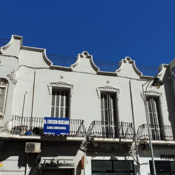 Edificio Aldaba. Fachada a Cándido. Lobera
