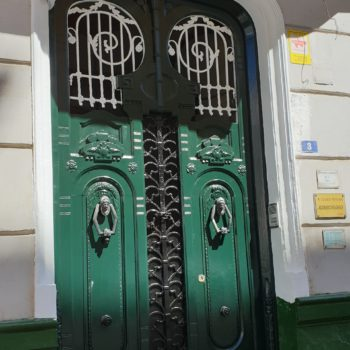 Edificio Aldaba. Puerta de entrada