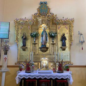 Parroquia de la Medalla Milagrosa. Altar de la Virgen Milagrosa. Fotografía de Luis Legido