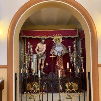 Parroquia de la Medalla Milagrosa. Ntro. Padre Jesús Flagelado y María Santísima del Mayor Dolor. Fotografía de Luis Legido
