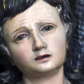 San Sebastian. Detalle rostro.Fotografía Miguel Gómez Bernardi