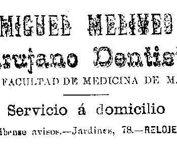 Miguel Meliveo Dentista 1903