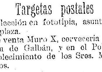 Tarjetas postales Muro X 1904