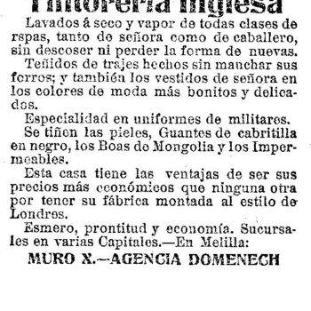 Tintorería inglesia 1913
