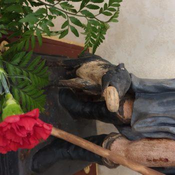 San Roque en el Sagrado Corazón. Detalle del perro.