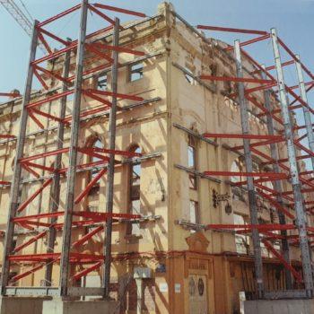 Teatro Kursaal. Proceso de rehabilitación. Fotografía de El teatro KURSAAL CAM