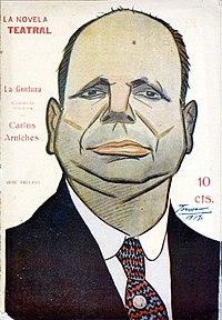 Caricatura de José Tallaví por Tovar. Wikipedia