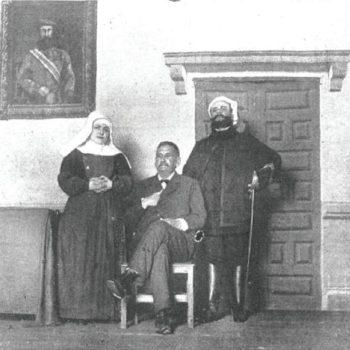 Tallaví junto a María Gómez y Benito Pérez Galdos. Revista La Ilustración Artística 1915